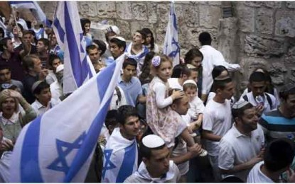 Left and right play tug-of-war over Jerusalem Day