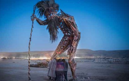 Israel's First Burning Man, One Mile From Ben Gurion's Grave By Melanie Lidman