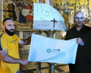 ARAB CHRISTIANS PRAY FOR PEACE IN SYRIA AT JERUSALEM PRAYER SESSION by Omri RON